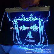 Acrylic Led Light Coffee Shop Signs