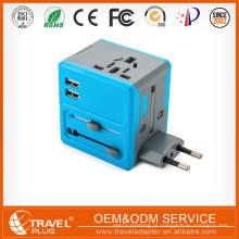 Novo carregador de USB 2 carregador de parede mundial de viagem AC Power AU UK US EU Plug Adapter Adapter