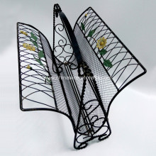 Metal Sunflower Magazine Rack Home Decor