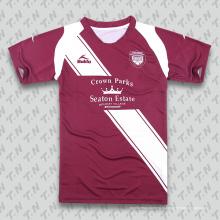 Дешевые пользовательские Оптовая сублимированных подлинной футбольной рубашке / футбол Джерси