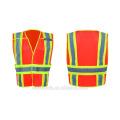 Chaleco de seguridad chaleco de seguridad de alta visibilidad de 3 metros chaleco de protección de ropa de tráfico con muchos bolsillos