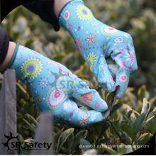 SRSAFETY 13g Перчатки для садоводства с покрытием PU / рабочая перчатка / защитная перчатка