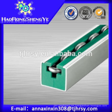Rodillo redondo Guías de cadena con color verde