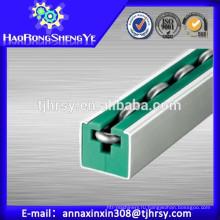 Круглые цепи роликовые направляющие с зеленым цветом