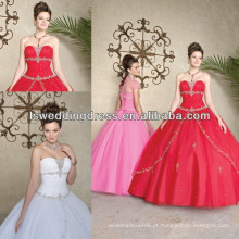 HQ2012 estilo novo estilo sem alças sem mangas de bolero revestimento de cristal bordar vestidos de quinceañera