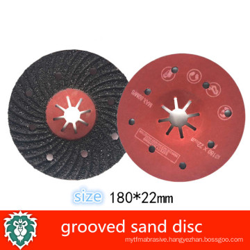 silicon carbide grooved sand disc , round sanding disc