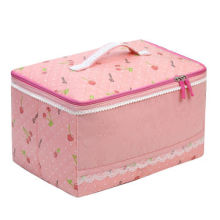 Ladies' Large Capacity Polyester Cosmetic Case with a Mirror Storage/Wash Bag
