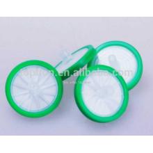 Filtro de jeringa, PTFE, 25 mm de diámetro, 0.45um, 100pcs / bag, Lab Chemistry Labware