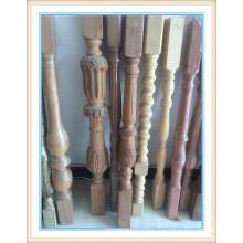construction de piliers en bois à l'intérieur