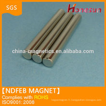 Super Strong sintered rare earth magnetic force cylinder ndfeb magnets