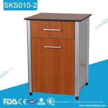 SKS010-2 Cabinet de rangement de chevet en bois d'hôpital