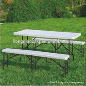 6ft Hdpe Folding Park Bench Patio