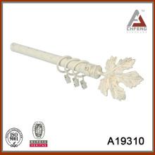 A19310 maple leave shape metal curtain rod finial,decorative curtain rod set