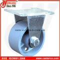 Medium Duty Rigid Caster with Gray Iron Wheel