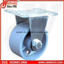 Medium Duty Rigid Caster with Gray Iron Wheel
