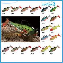 Weiche Bleifische in drei Größen im mehrfarbigen Angelköder