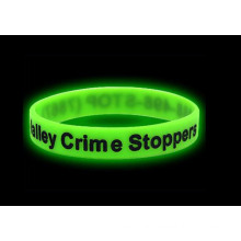 Green Sport Luminous Silicone Glow in Dark Bracelet
