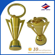Promotion High quality gold trophy shape keychain made in China