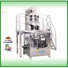 Pet Food Rotary Weighing & Packaging Machine for Open Mouth Bag