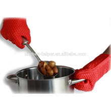 FDA não tóxico luvas de silicone para cozinhar / Silicone Grill forno BBQ luva / forno Mitt