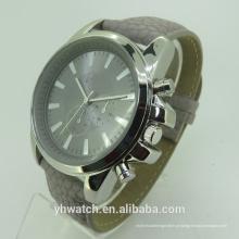 Moda de luxo tipo de quartzo e unissex gender mens relógio de couro