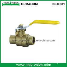 Válvula de bola soldada con autógena de cobre amarillo 600wog (AV1020)