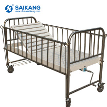 X05-2 Stainless Steel Hospital Metal Children Bed