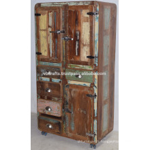Style de réfrigérateur recouvert de bois ancien de Drwaer Cabinet