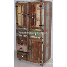 Estilo de refrigerador Recycled Old Timber Drwaer Cabinet