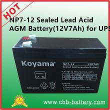 Np7-12 Bateria AGM com ácido de chumbo selado (12V7Ah) para UPS
