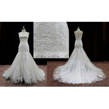 Vestidos de novia de la sirena de Alibaba Vestidos de encaje de la vendimia