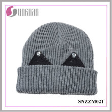 Best Design Winter Warm Thick Wool Cap Sweet Rhinestone Ear Knit Hat