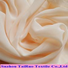Sólido teñido tejido poliéster gasa para la tela del vestido