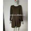 Vente en gros à manches longues One-Piece Party Mini robe courte Femmes Casual