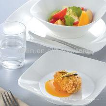Emmy série hotel e restaurante de louça de porcelana branca, louça, louça de porcelana