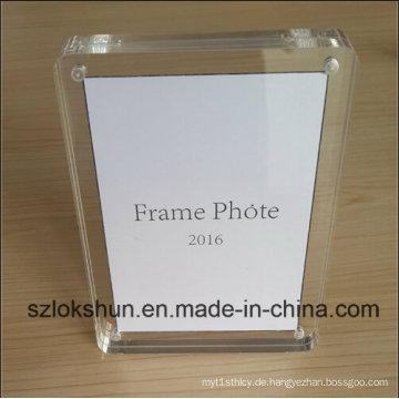 2016 Der beste Geschenk-Acryl-magnetischer Foto-Rahmen, eleganter gegenwärtiger Fotorahmen