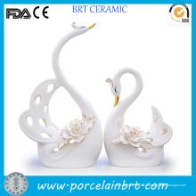 Cadeau élégant de faveur de mariage en céramique de cygne blanc élégant