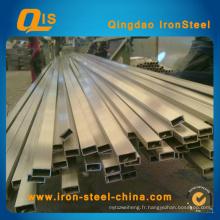Carré en acier inoxydable (rectangle) par matériau 304, 304L
