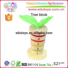 Best Selling European Beech Holz Stacking Blocks Set Vorschule Kinder Spielzeug