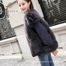 New style real fox reversible fur coat luxury jacker wholesale for sale