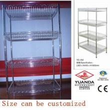 Supermarket Metal Display Wire Stacking Stand
