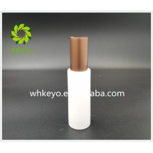 50ml Hot sale cosmetic packaging white colored empty cosmetic glass pump bottle