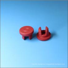 Tapón de caucho butílico rojo para inyección