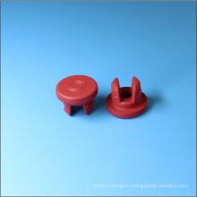 Красный бутил резиновой пробкой для инъекций