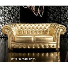 Современная Европейская гостиной кожаный Chesterfield диван