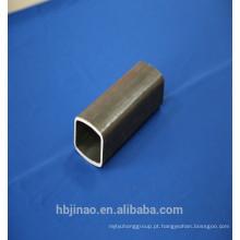 Tubo de aço retangular sem costura