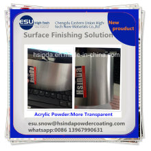 Cheap DIY New Product Recycleable Acrylic Clear Transparent Powder Coating