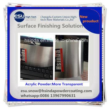 Báscula DIY nuevo producto Recycleable acrílico claro Transparent Powder Coating