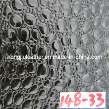 Glossy Crocodile Grain Leather for Decorative