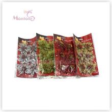 6PCS Großhandelsweihnachtsdekorative Blumen-Verzierung Weihnachtsbaum-Dekoration